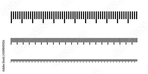 Obraz Measuring scale, marking for ruler, thermometer scale, marks for tape measure. Vector illustration - fototapety do salonu