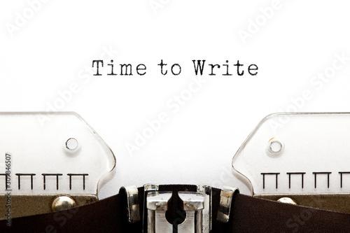Photo Time To Write Typewriter Concept