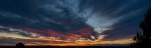 Sunset Or Sunrise Sky With Ora...
