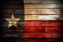 Texas Flag On Boards