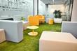 Leinwanddruck Bild - Office space interior with simple modern furniture