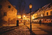 Old Tkalca Street In Zagreb Ev...