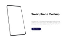 Rotated 3d Smartphone Mockup T...