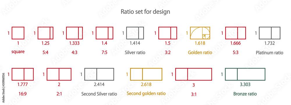 Fototapeta デザインの為の美しい比率セット
