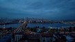 Istanbul Galata Tower and Golden Horn Nighy Time Lapse video