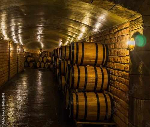Tela  barris de fabricação de vinhos e armazenagem