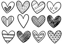 0077 Hand Drawn Scribble Hearts