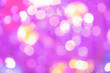 canvas print picture - Defocused lights blurred abstract pink color background