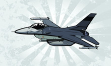 Fighter Jet Vector Illustratio...