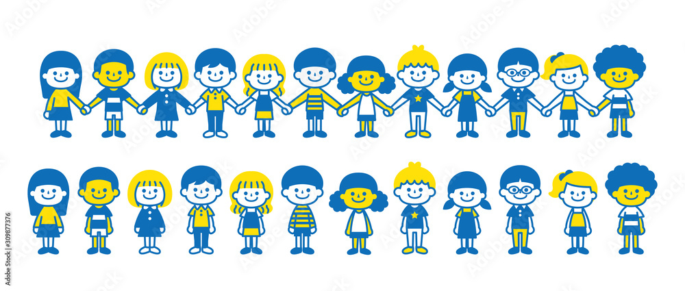 Fototapeta Children around the world