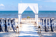 Blue Themed Wedding Setup At T...