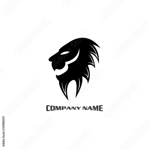 Fototapety, obrazy: Lion head logo vector, creative graphic illustration design