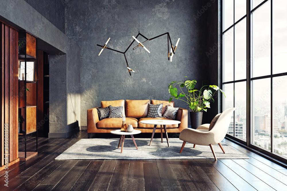 Fototapeta Modern living room design.