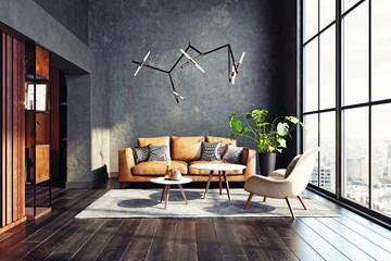 Modern living room design.