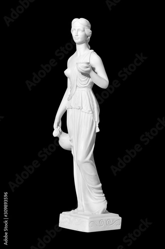 Photo statue of a naked woman on a black background