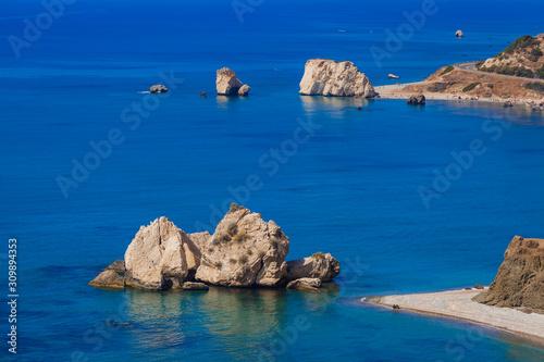 Photo Aphrodite rock in Paphos Cyprus