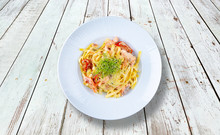 Tagliatelle With Mushrooms, Ra...