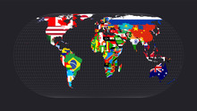 World Flag Map. Eckert IV Proj...