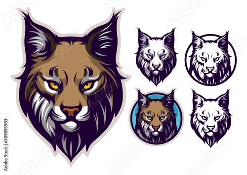 Cuadros en Lienzo Bobcat head emblem