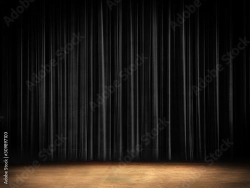 Obraz na plátně black Curtain Stage Background