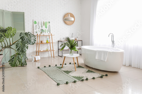 Interior of modern comfortable bathroom Wallpaper Mural