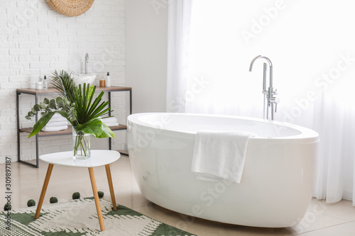 Stampa su Tela  Interior of modern comfortable bathroom