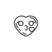 Heart Face Emoji Blowing A Kis...