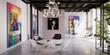 Leinwandbild Motiv Project of a contemporary art & exibition gallery - panoramic 3d visualization