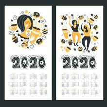 Calendar 2020. Vector Illustra...