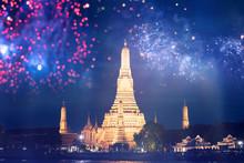 Wat Arun Temple In Bangkok Wit...