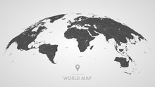 Detailed Global World Map, Wit...