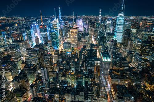 New York night skyline Slika na platnu