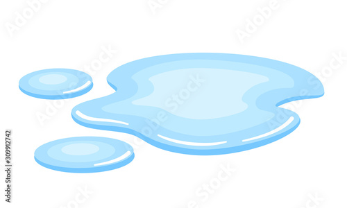 Photo Water spill or puddle vector icon