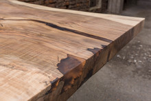 Solid Walnut Wooden Table With Epoxy Resin Filling