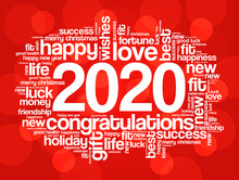 2020 Year Greeting Word Cloud ...
