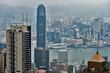 Cloudy Hong Kong Cityscape