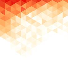 Abstract Triangular Background.Orange Geometric Pattern.