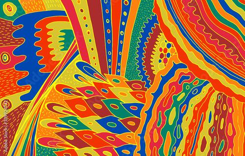 Foto Boho doodle pattern
