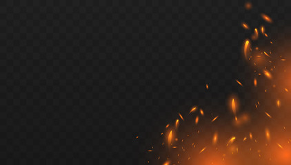Red Fire sparks vector
