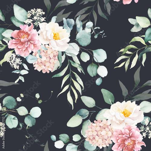 bezproblemowa-akwarela-kwiatowy-wzor-z-rozowymi-i-brzoskwiniowymi-kremowymi-kwiatami-kompozycja-lisci-na-czarnym-tle-idealna-na-opakowania