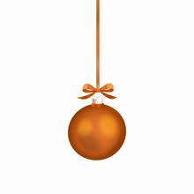 Orange Christmas Ball With Ora...