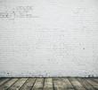 Leinwanddruck Bild - White blank brick wall