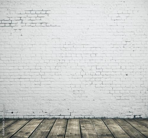 White blank brick wall Wallpaper Mural