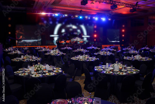 Photo wedding and gala salon dinner concept