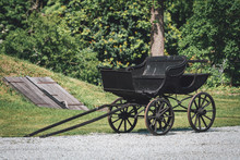 Old Wooden Horse Carriage Outd...