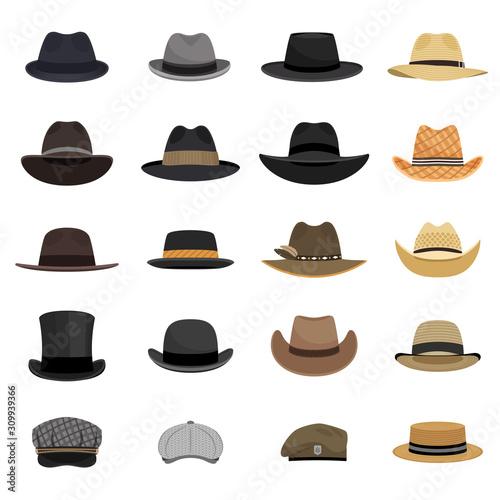 Fotografie, Obraz Different male hats