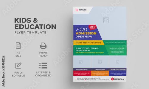 Photo Kids Education Flyer Template | Junior School College Education Flyer & Poster