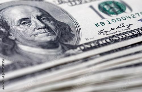 Fotografia 100 dollar bills