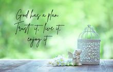 God Has A Plan. Trust It, Live...