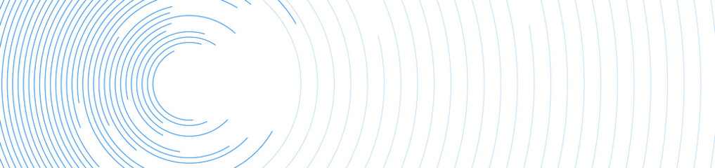 Blue circular lines abstract futuristic technology banner design. Vector background